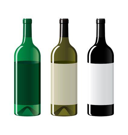 Wine bottles Stock Vector - 10516309