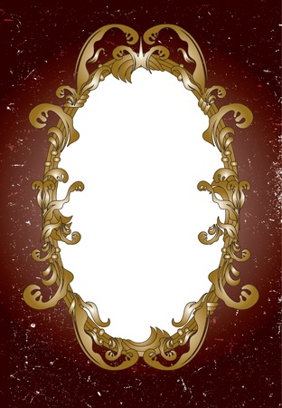 Ornamental mirror frame Illustration