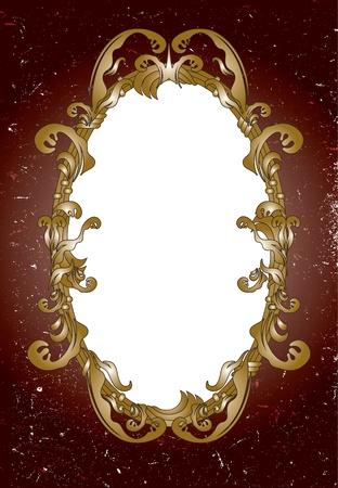 Ornamental mirror frame Vector