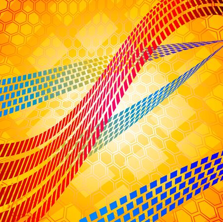 Mosaic lines Stock Vector - 10599060