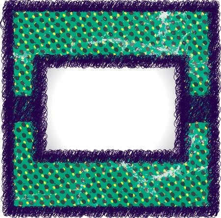 Worn scribble frame Vector