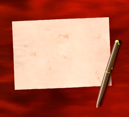 parchment texture: Carta e penna sul tavolo
