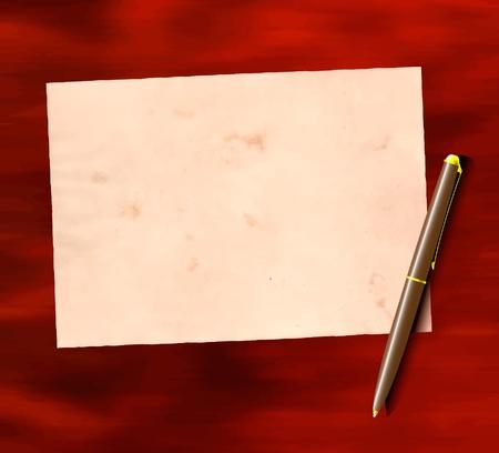 Carta e penna sul tavolo