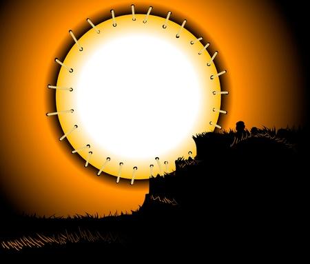 Moonlight lanterns: khung trăng khâu
