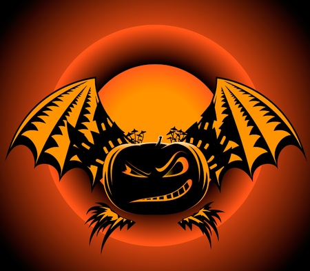 Halloween-Kürbis-Label
