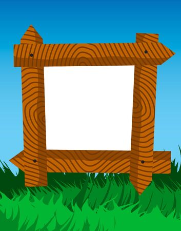 log wall: Frame of fence planks