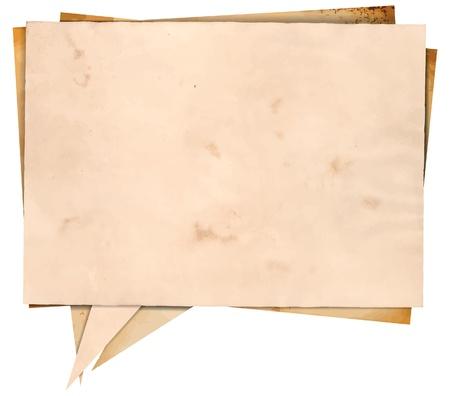 Aged paper speech bubble Illustration