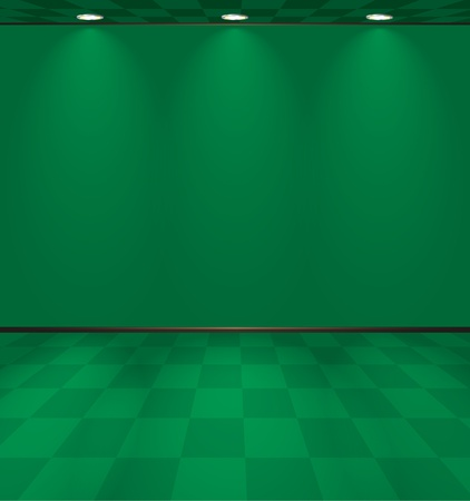 Lightened green room Vector