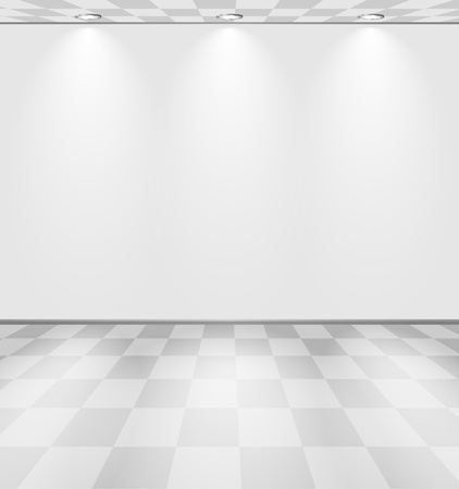 Grey lightened room Stock Vector - 10841628