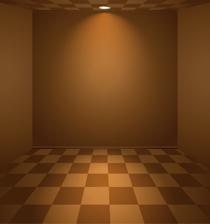 Brown lightened room Vector