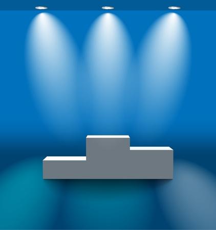 Blue voetstuk kamer
