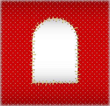 polka dot fabric: Polka dot tessuto con patch cucita