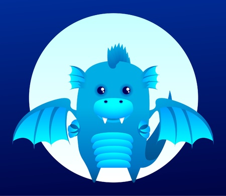 Blue water dragon, symbol of 2012 year Vector