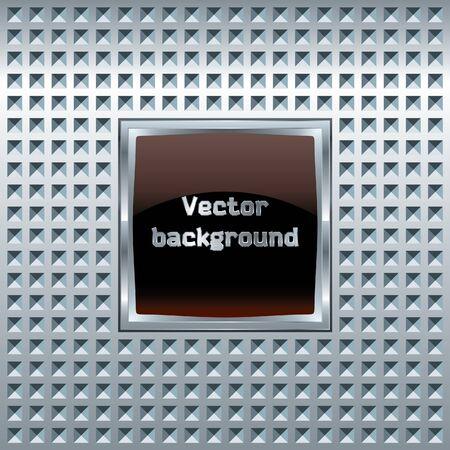 Glass screen on metal Vector