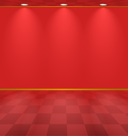 Red lightened room