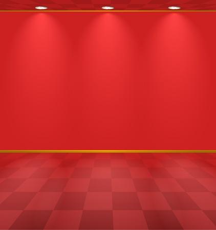 Rood verlichte kamer