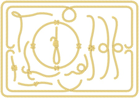 rope border: Set of rope elements Illustration