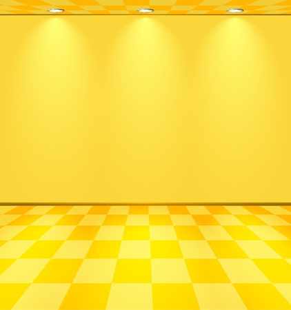 Yellow lightened room Vector