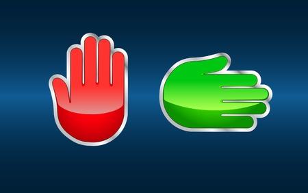 hinder: Hand signs