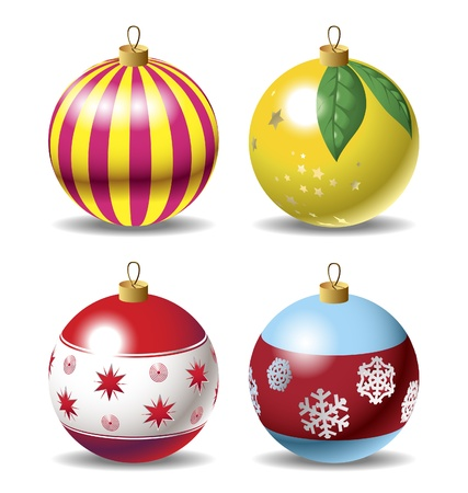 babble: Set of christmas baubles