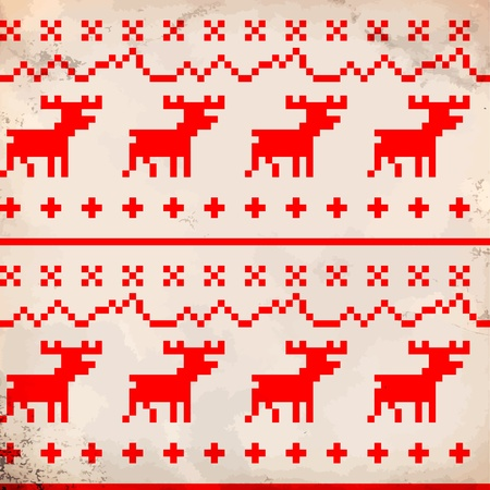 Traditional reindeer ornament Vector