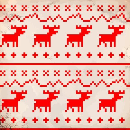pullover: Traditionelle Rentier Ornament Illustration