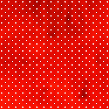 Polka dot grungy pattern Vector
