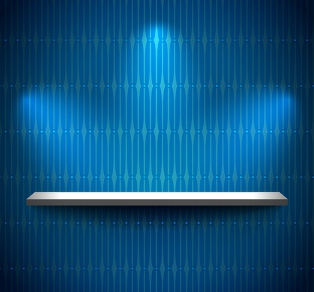 Shelf on the wall with wallpaper Stock Vector - 11236854