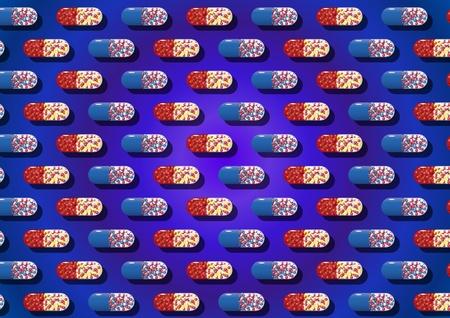 Capsules pattern Stock Vector - 11362261