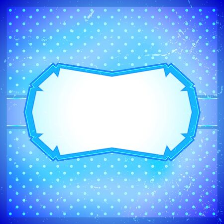 Frozen frame with polka dot background Vector