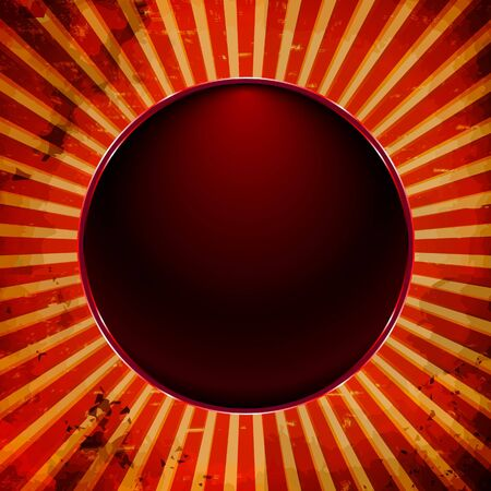 Black button frame on the sun rays Vector