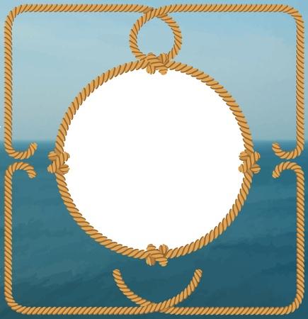 deportes nauticos: Cuerda de marco sobre el mar
