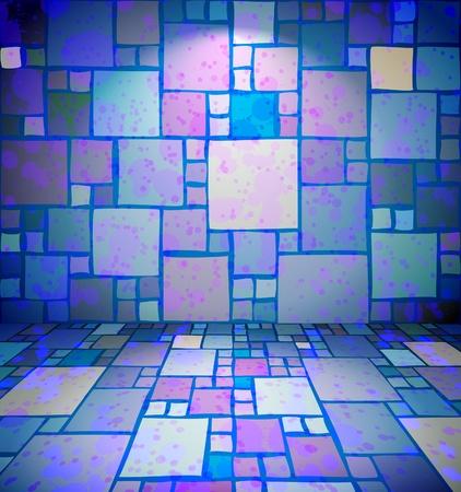 Grungy Clubraum mit quadratischen wallpaper
