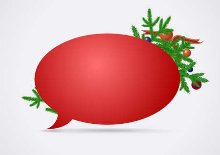 Christmas speech bubble Stock Vector - 11362295