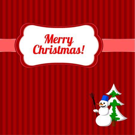 Christmas frame with snowman Stock Vector - 11362307