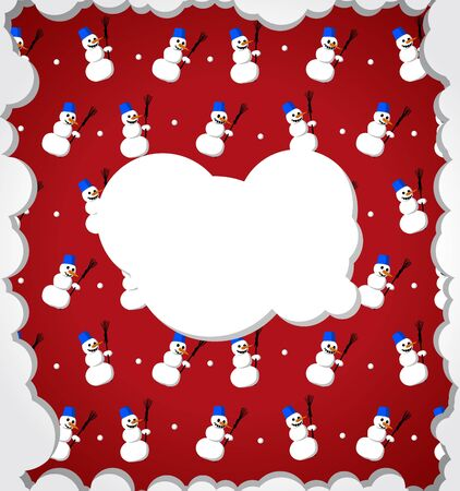 Snowy frame with snowmans Stock Vector - 11362313
