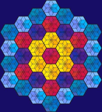 vetrate artistiche: Colorful mosaico di vetro colorato