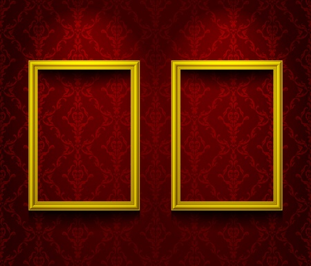 Two frames on the wall Vector