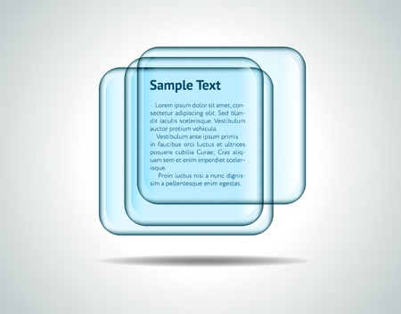 Square glass plates Vector