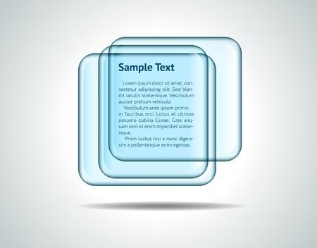 Square glass plates Stock Vector - 11478895