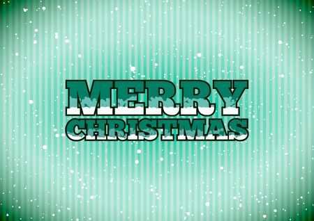 Merry christmas label Stock Vector - 11478888