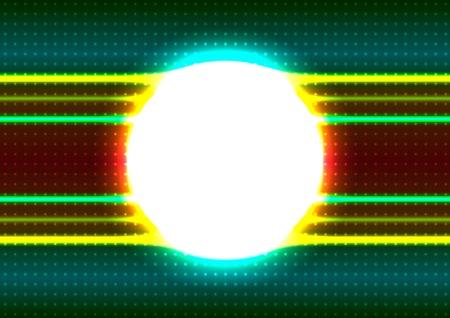 Shiny circle frame Vector