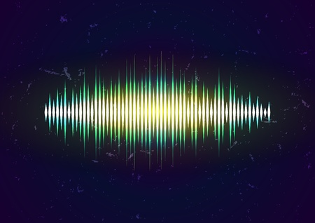 volume glow light: Grungy waveform card