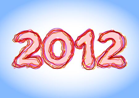 2012 sign Vector
