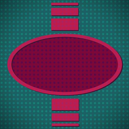 Oval dotted frame Stock Vector - 11660976