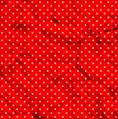 Crumpled polka dot texture Stock Vector - 11660911