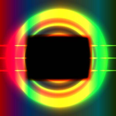 Shiny screen frame Vector