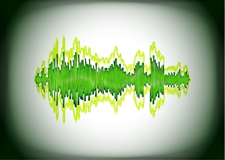 wavelength: Waveform of shiny lines Illustration