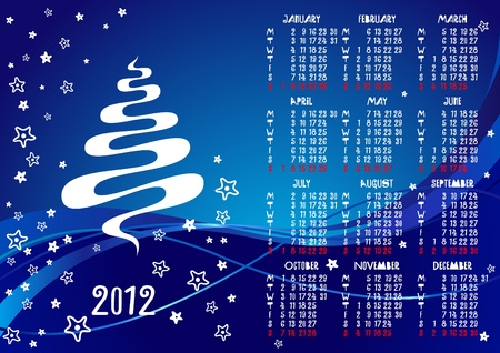 2012 calendar with funny numbers Stock Vector - 11660977