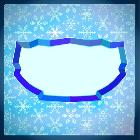 Icy frame with snowflakes Vector